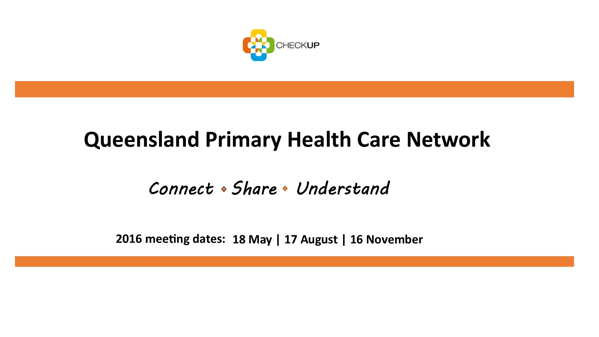 QPHCN Queensland Primary Health Care Network Meeting (18 May 2016)