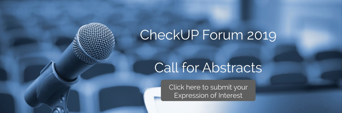 The CheckUP Forum 2019 - Call for Abstracts