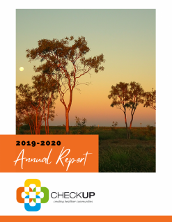 Front cover of the 2019-2020 Annual Report that features a landscape photo of Morella, Qld.